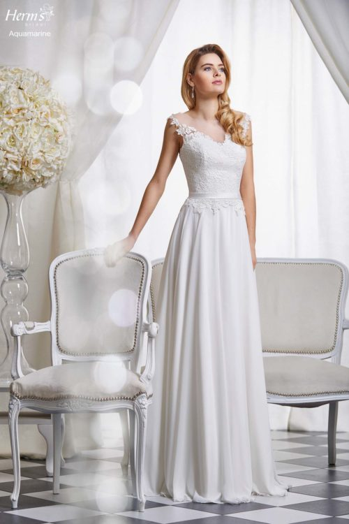 wedding dress Herm's Bridal Aquamarine