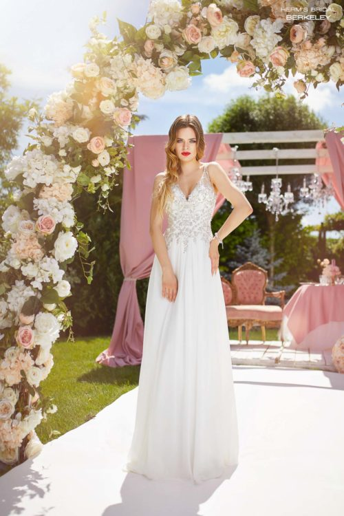 wedding dress Herm's Bridal Berkeley