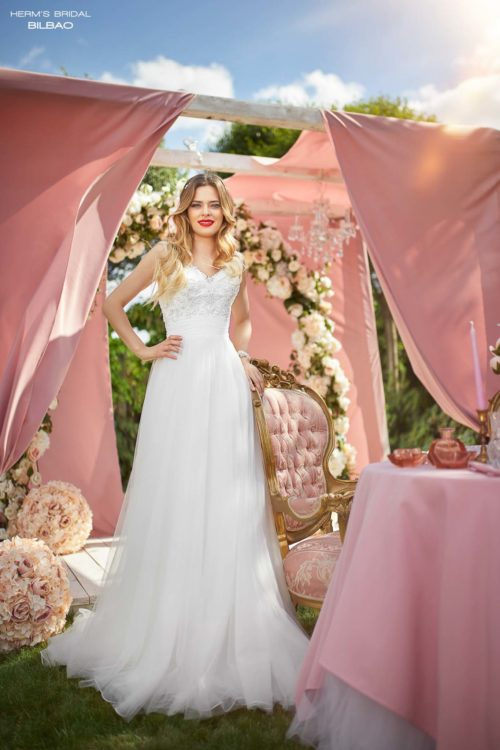 wedding dress Herm's Bridal Bilbao