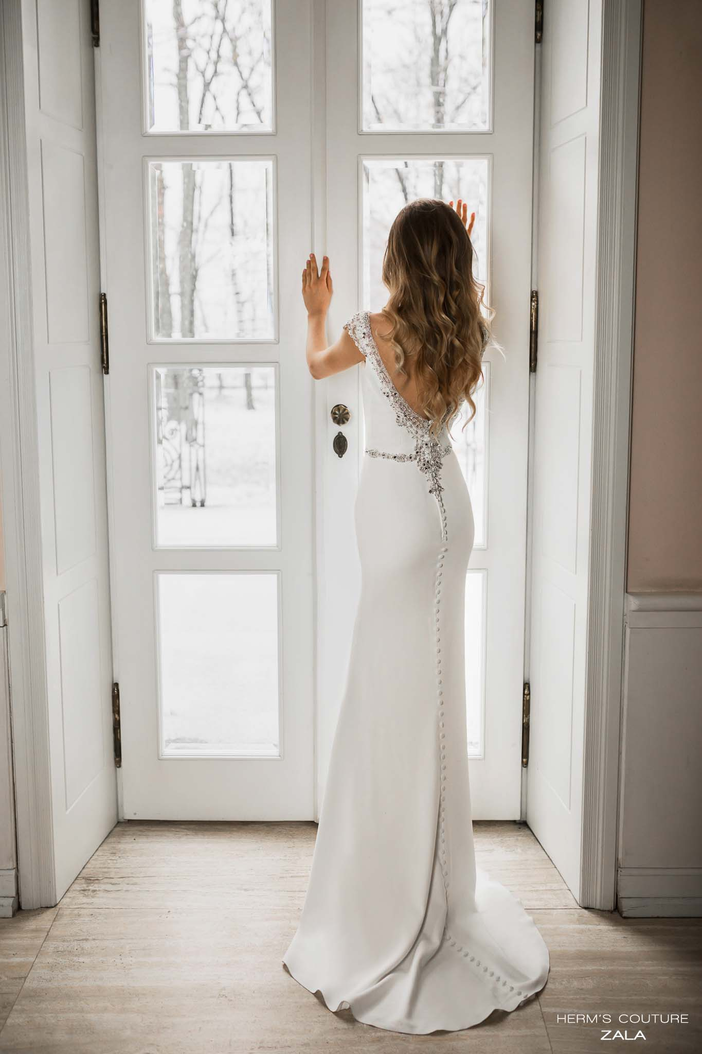 wedding dress herms bridal couture Zala