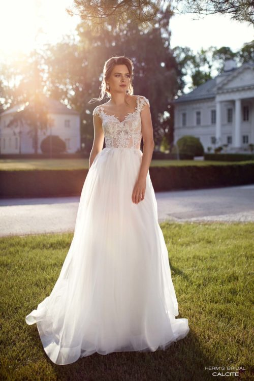 wedding dress herms bridal calcite