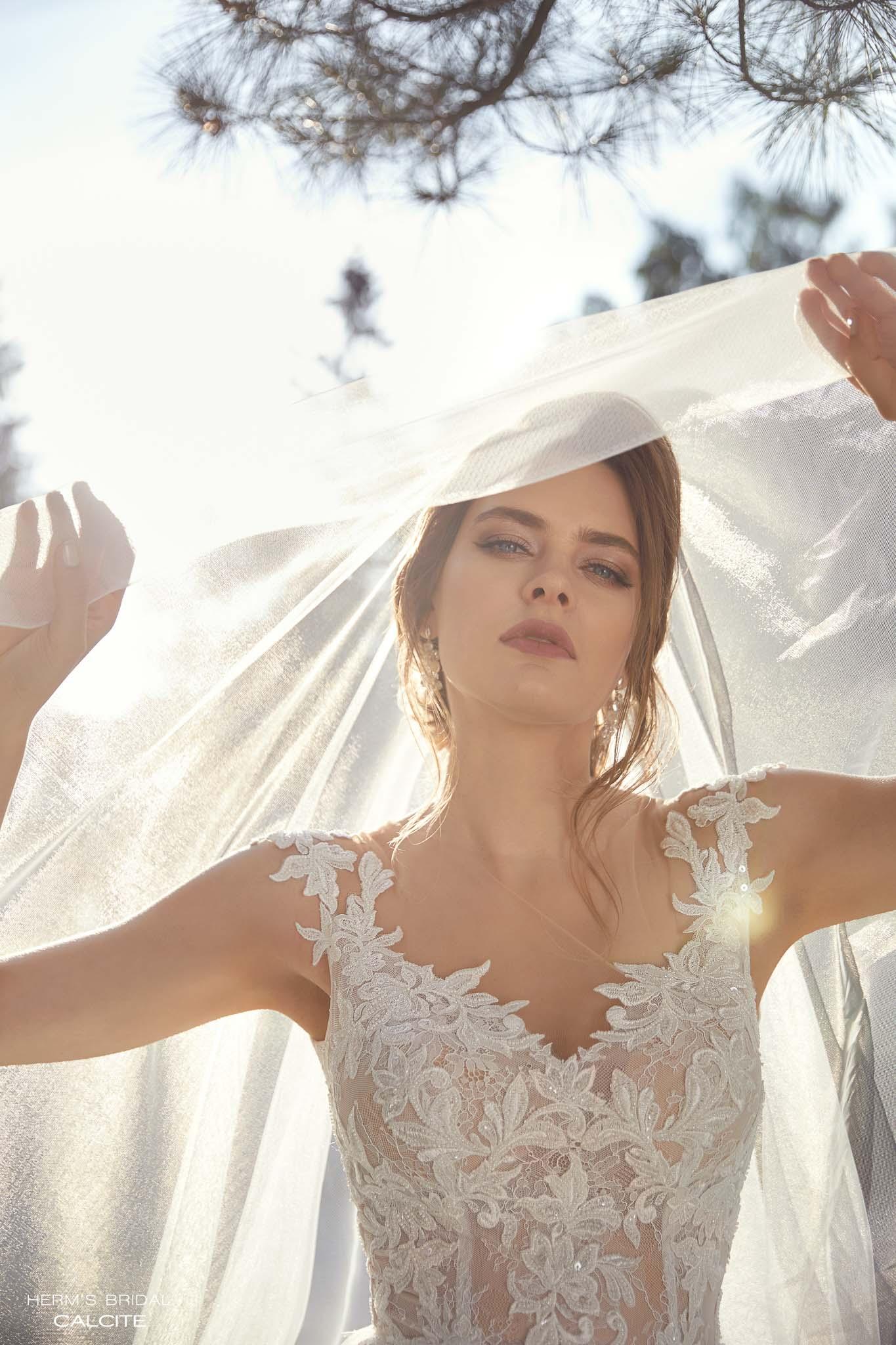 wedding dress herms bridal calcite