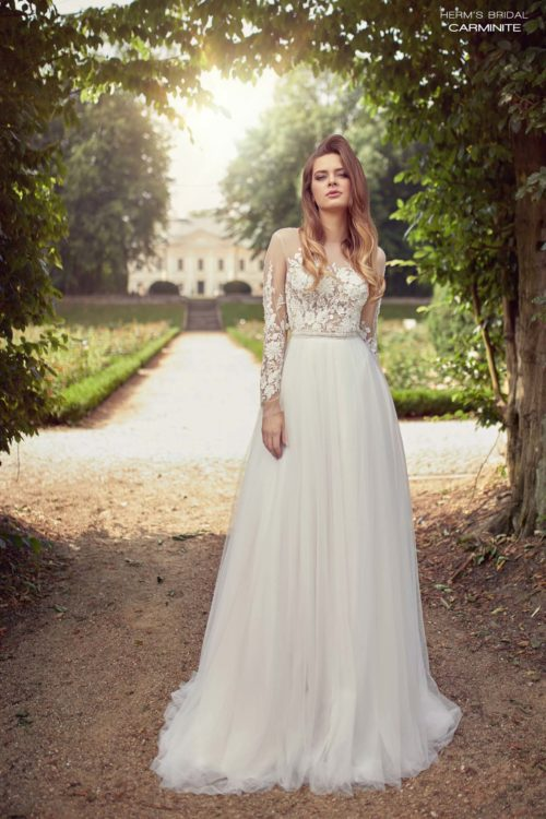 wedding dress herms bridal Carminite