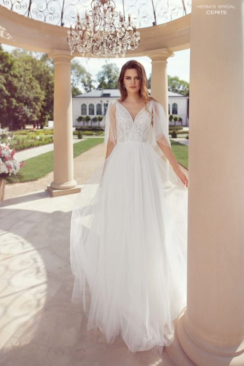 wedding dress herms bridal Cerite