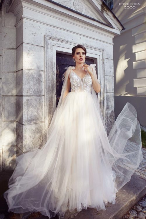 wedding dress herms bridal Coco
