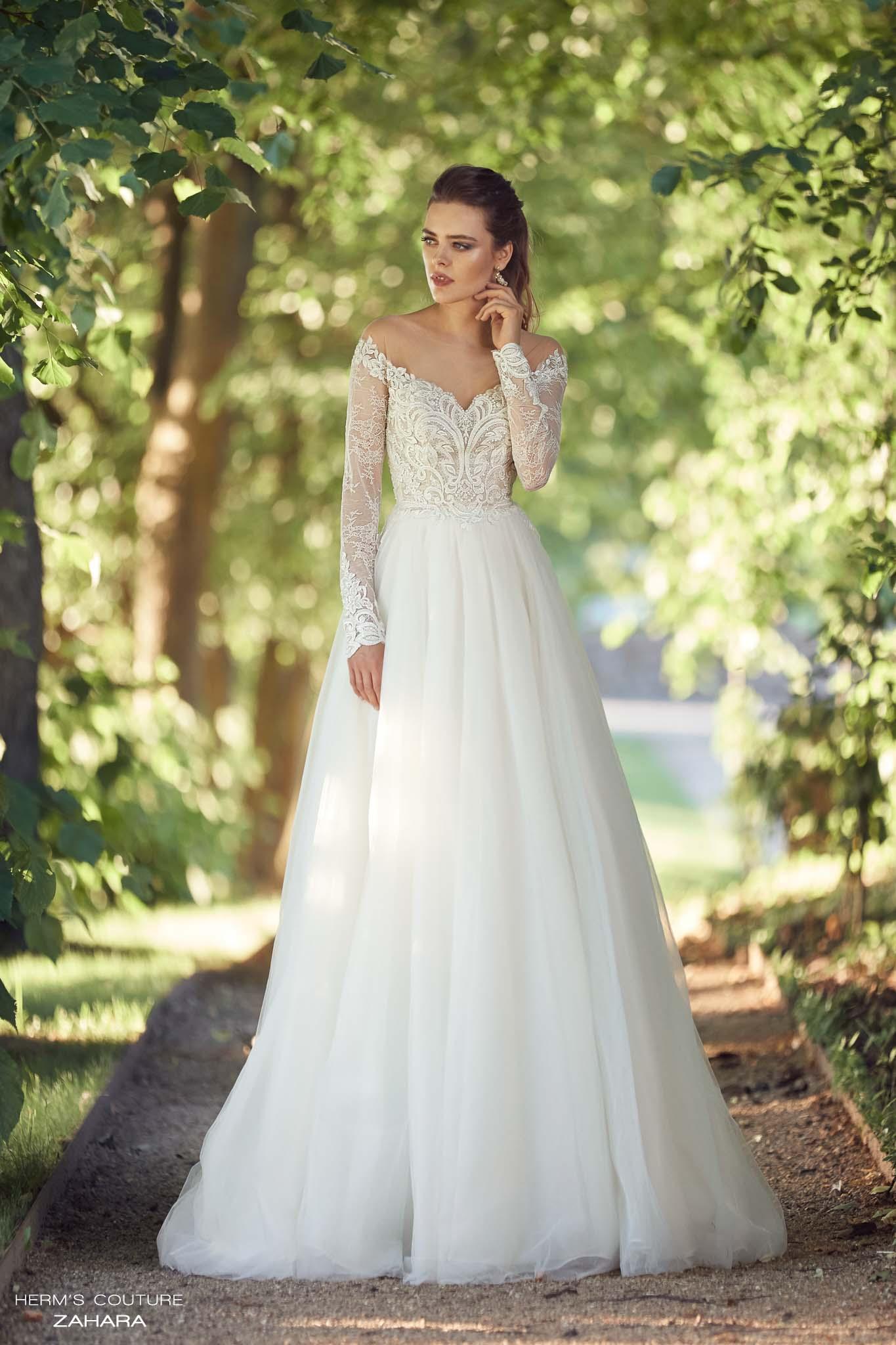 wedding dress herms bridal couture Zahara