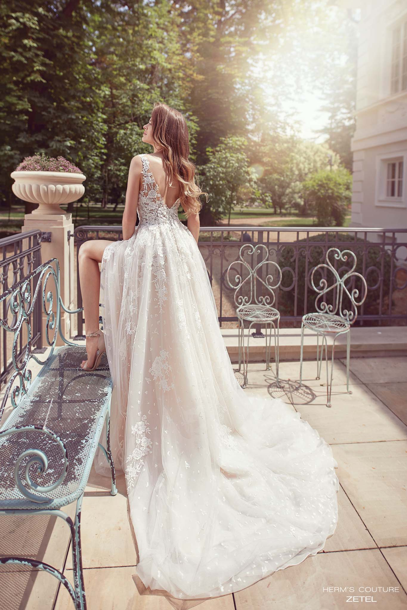wedding dress herms bridal couture Zetel