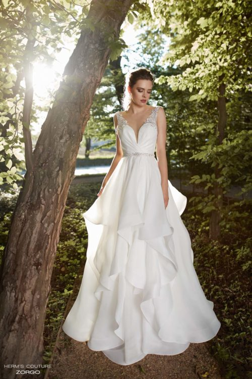 wedding dress herms bridal couture Zorgo