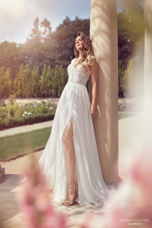 wedding dress herms bridal couture Zurich